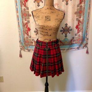 Betsey Johnson Plaid Mini Skirt sz 6